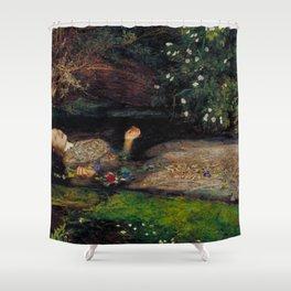 John Everett Millais Ophelia Painting Shower Curtain