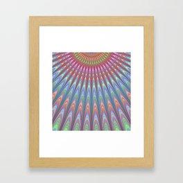 Contemporary Fractal Art Design Pattern Framed Art Print