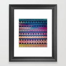 SURF TRIBAL PATTERN Framed Art Print