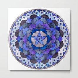 Star Mandala Storm Metal Print