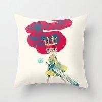 aurora Throw Pillows featuring aurora by yohan sacre