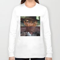 saga Long Sleeve T-shirts featuring Indiana Jones Saga by Chris Watts Art