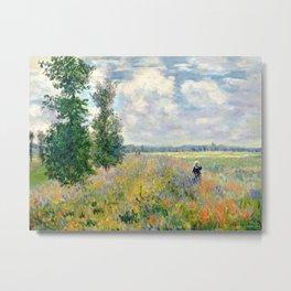 Poppy Fields near Argenteuil by Claude Monet Metal Print