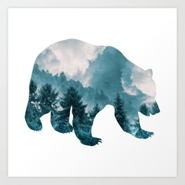 Bear of Forest and Sky Art Print