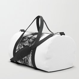 Hipster Lion White Duffle Bag