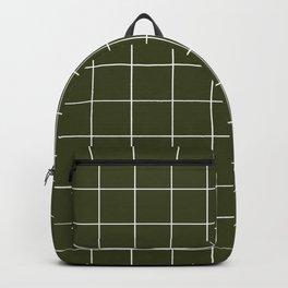 Grid (Olive Green) Backpack