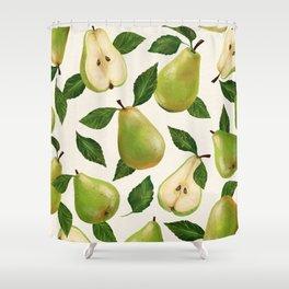 Green Pears Shower Curtain