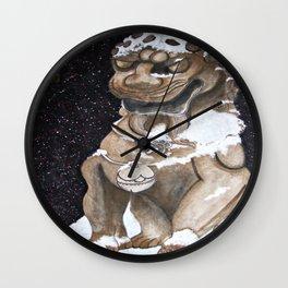 Lion Statue Wall Clock
