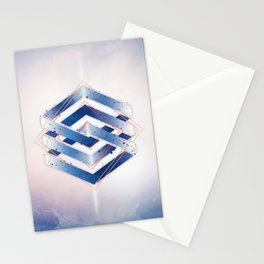 Floating Geometry :: Winter Hexagon Stationery Cards