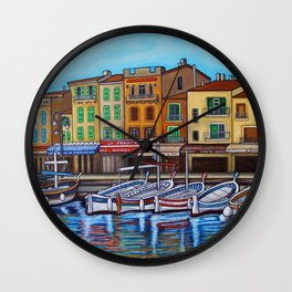Colours of Cassis Wall Clock