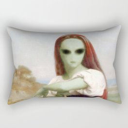 Bouguereau's Alien Shepherdess Rectangular Pillow