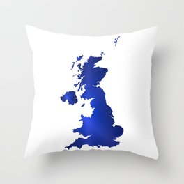 United Kingdom Map silhouette Throw Pillow