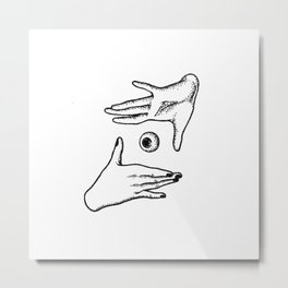In your hand Metal Print
