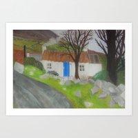 Aunties cottage Art Print