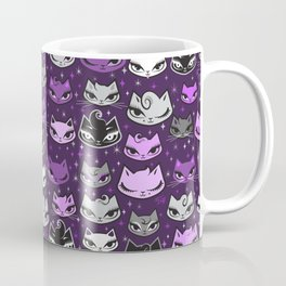 Purple Rockabilly Cats Coffee Mug