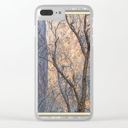WARM WINTER WALLS OF ZION CANYON Clear iPhone Case