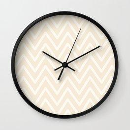 Chevron Wave Bisque Wall Clock