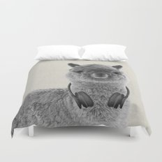 Portrait of Alpaca Duvet Cover