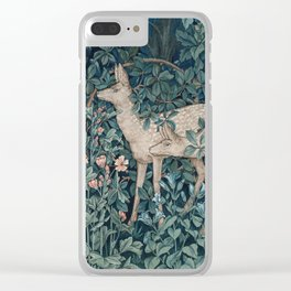 William Morris Forest Deer Clear iPhone Case