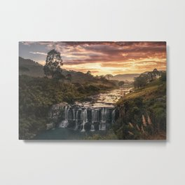 Fire & Water Metal Print