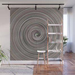 Gray facets wave Wall Mural