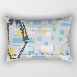 Live Like There Is No Tomorrow! Rectangular Pillow