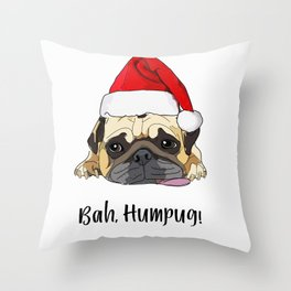 Bah Humpug Throw Pillow