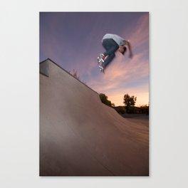 Zander Gabriel. Backside Ollie  Canvas Print