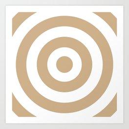 Target (Tan & White Pattern) Art Print