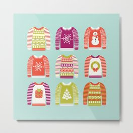 Ugly Christmas Sweaters Metal Print
