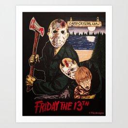 Friday The 13th Jason Art Print