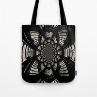 fractal Tote Bags featuring Fractal by Aaron Carberry