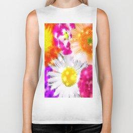 Fractal Flower mix, colorful Biker Tank