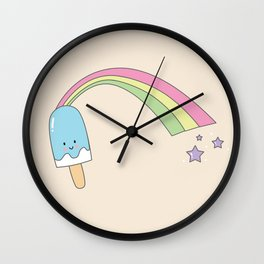 Rainbow Popsicle Wall Clock