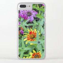 Flower Jamboree Clear iPhone Case