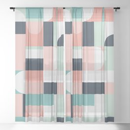 Abstract Geometric 08 Sheer Curtain
