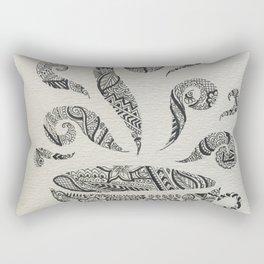 But first, Tea - tea coffee lover zentangle Rectangular Pillow