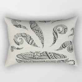 But first, Tea - tea coffee lover zentangle Rectangular Pillow