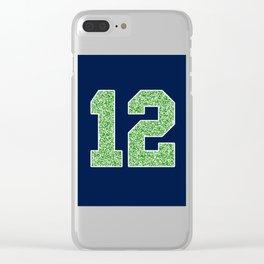 12th Man Clear iPhone Case