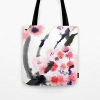 sakura Tote Bags featuring Sakura by Nina