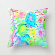 Candy Meadow  Throw Pillow