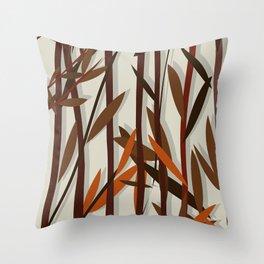 Autumn willow Throw Pillow
