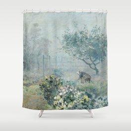 Alfred Sisley - Fog, Voisins Shower Curtain