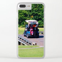 A Day Of Golf Clear iPhone Case