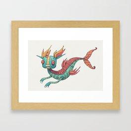 The Fish Dragon Framed Art Print