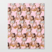 ariana grande Canvas Prints featuring Grande Donuts by vllancourt