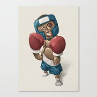ali gulec Canvas Prints featuring Ali by clogtwo