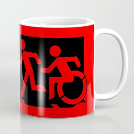 Wheelchair Disabled Exit Sign, with Accessible Means of Egress Icon Coffee Mug