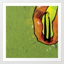 For you - green Art Print