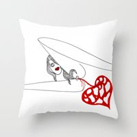 princess Throw Pillows featuring PRINCESS by Vanja Cankovic